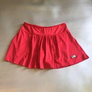 Fila red pleated tennis skort